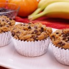 Chocolate Chip Banana Pumpkin Streusel Muffins