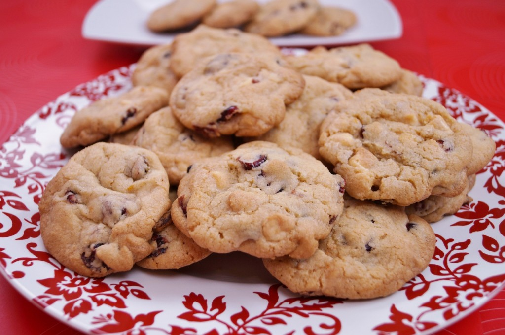 White Chocolate Cranberry Orange Cookies