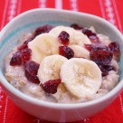 Banana Cranberry Oatmeal - Easy Healthy Breakfast Idea