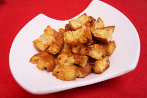 Homemade Croutons - Garlic Herb