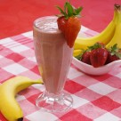Strawberry Banana Smootie with Chocolate!