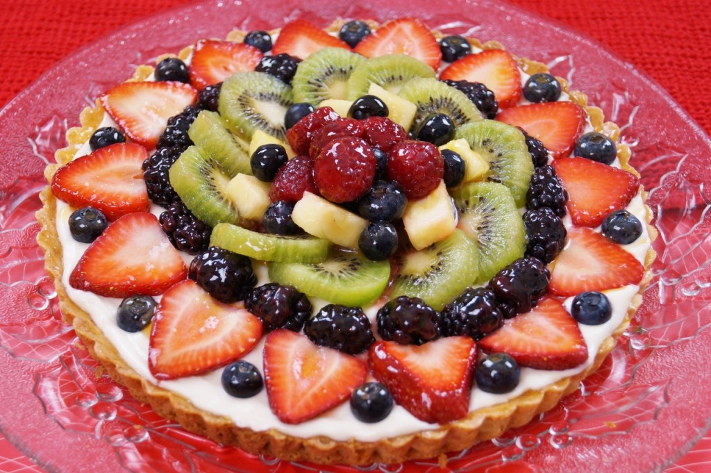Fruit Tart Birthday Cake Recipe