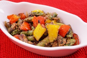 Vegetables With Basil Pesto Sauce