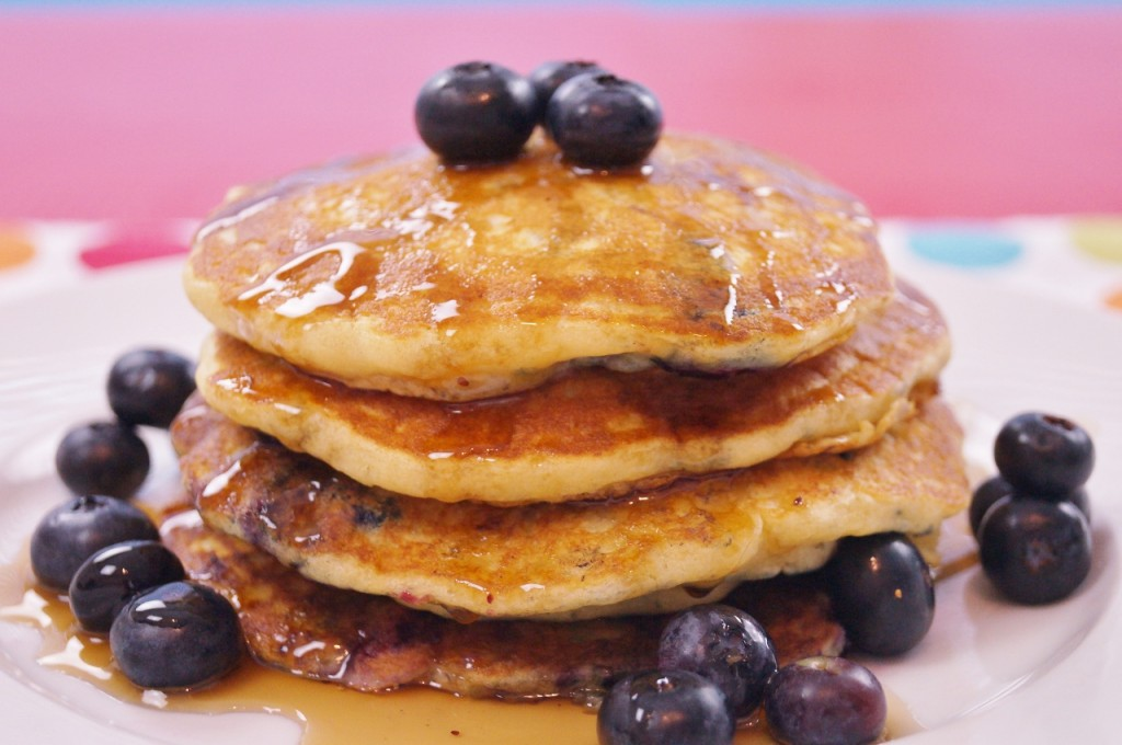 Easy, From Scratch Blueberry Pancakes!