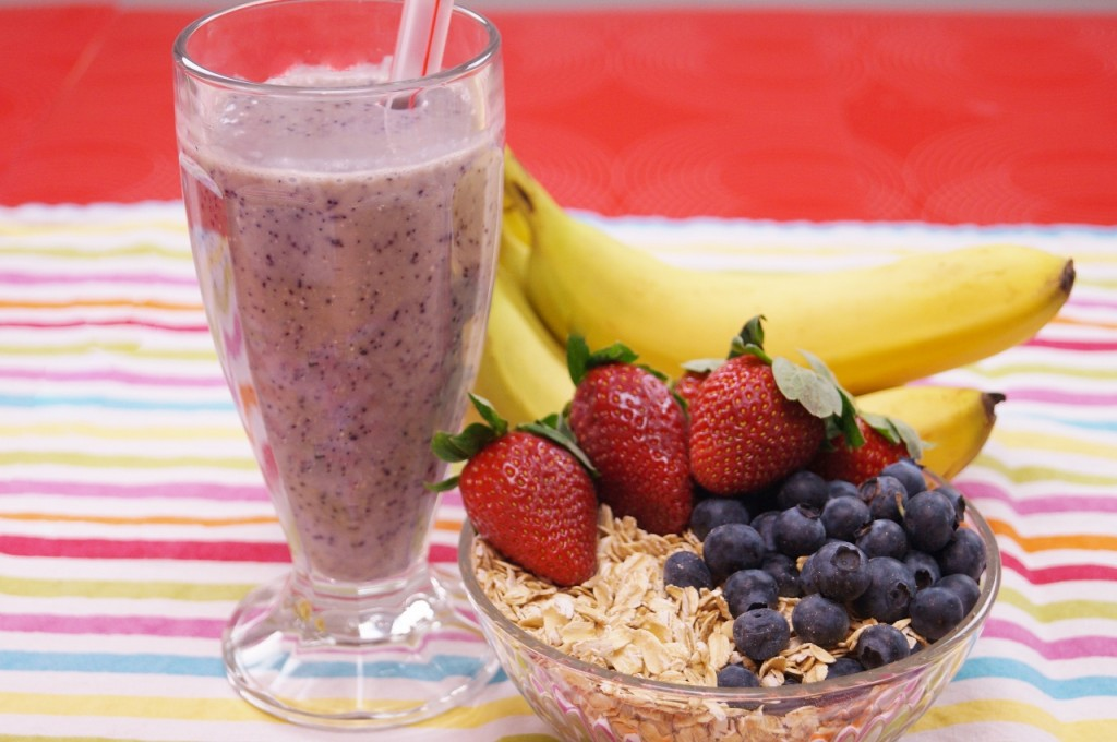 healthy shake recipes banana berry oatmeal smoothie recipe dishin with di 12046